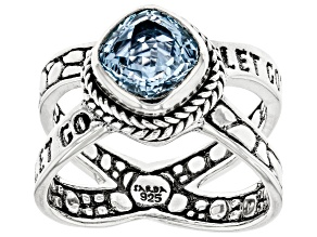 Sky Blue Topaz Sterling Silver Ring 2.45ct