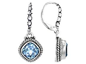 Sky Blue Topaz Sterling Silver Earrings 4.90ctw