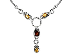 Madeira Citrine and Citrine Sterling Silver Necklace 2.85ctw
