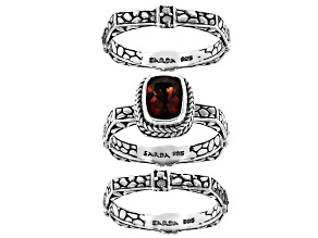 Madeira Citrine Sterling Silver Set of 3 Rings 1.05ct