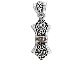 Champagne Zircon Sterling Silver Pendant .15ctw