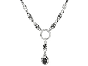 Black Spinel Sterling Silver Necklace .98ct