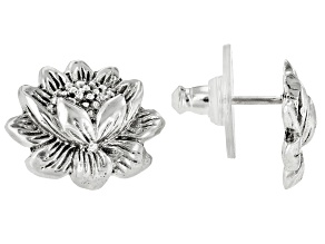 "Sterling Silver ""New Creation"" Stud Earrings"