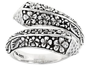 """Sterling Silver """"Clear My Faith"""" Bypass Ring"""