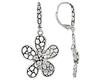 Picture of Sterling Silver Frangipani and Roses Earrings