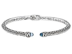 Blue Topaz Sterling Silver Bracelet 1.62ctw