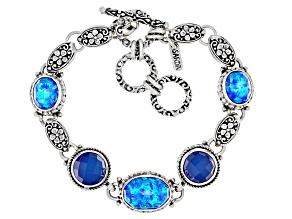 Twilight Opal Doublet Sterling Silver Bracelet