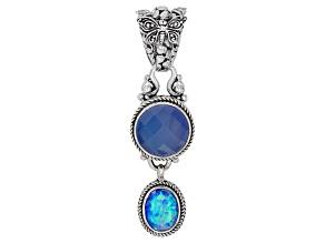 Twilight Opal Doublet Sterling Silver Pendant