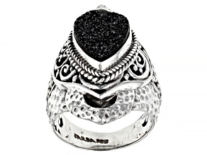 Black Night™ Drusy Quartz Sterling Silver Ring