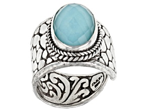 Turquoise Doublet Sterling Silver Ring
