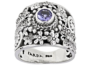 Tanzanite Sterling Silver Ring .38ct