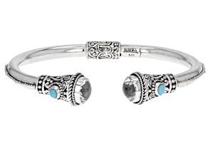 White Quartz Sterling Silver Bracelet 6.22ctw