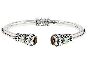 Yellow Citrine Sterling Silver Cuff Bracelet 3.26ctw