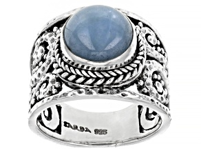 Blue Aquamarine Sterling Silver Ring