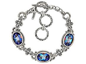 Oval Richey Blue™ Quartz Sterling Silver Bracelet 15.00ctw