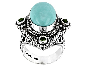 Picture of Blue Turquoise Sterling Silver Ring .24ctw