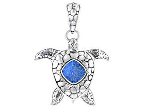 Baby Blue Moon Drusy Quartz Silver Pendant