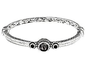 Black Knight™ Quartz Sterling Silver Bracelet 3.29ctw