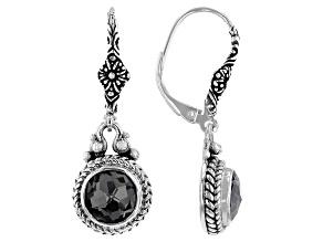 Black Knight™ Quartz Sterling Silver Earrings 5.62ctw