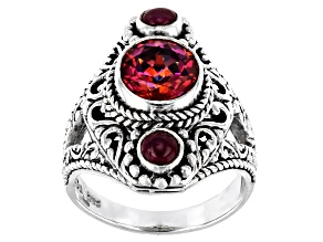 Pink Blessed™ Mystic Topaz® Sterling Silver Ring 1.70ct