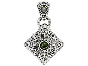 Green Moldavite Sterling Silver 0.80ctw