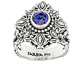 Blue Jay Jazz™ Quartz Sterling Silver Solitaire Ring .72ct