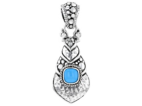 Blue Sleeping Beauty Turquoise Sterling Silver Pendant