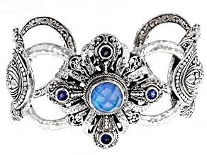Twilight Opal Doublet and Sheer Luck™ Topaz Silver Bracelet 4.85ctw