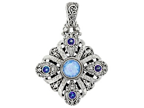 Twilight Opal Doublet Sterling Silver Pendant 4.93ctw