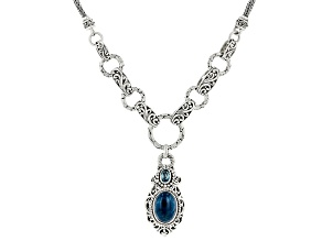 Blue Apatite Sterling Silver Necklace .60ct