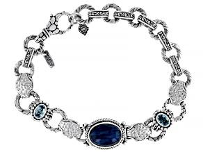 Blue Apatite Sterling Silver Bracelet 1.20ctw