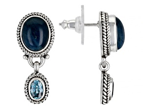 Blue Apatite Sterling Silver Earrings 1.20ctw