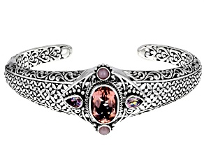 Sudsy Sells™ Topaz Sterling Silver Cuff Bracelet 5.62ctw