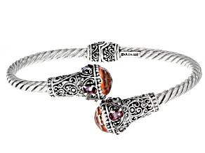 Pink Morganite Color Quartz Triplet Sterling Silver Bracelet 1.84ctw
