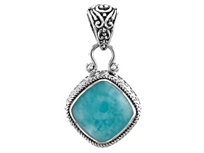 Blue Amazonite Sterling Silver Pendant