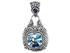 Blue Topaz Sterling Silver Pendant 7.07ctw