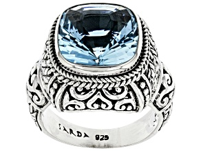 Blue Topaz Sterling Silver Ring 6.80ct
