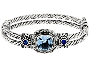Blue Topaz Sterling Silver Bracelet 7.34ctw