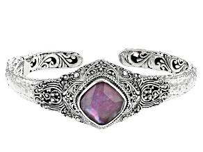 Pink Tourmaline Triplet Silver Bracelet 6.49ct