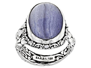 Blue Lace Agate Sterling Silver Ring