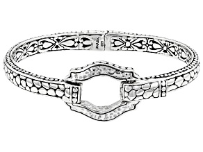 """Sterling Silver """"Present Moments"""" Cuff Bracelet"""