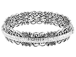 """Sterling Silver """"Cherished Forever"""" Bangle Bracelet"""