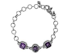 Purple Sugilite Sterling Silver Bracelet 5.50ctw