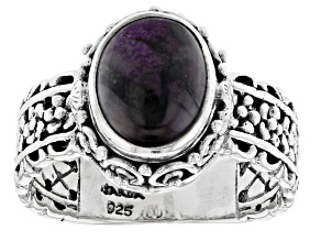 Purple Sugilite Sterling Silver Ring