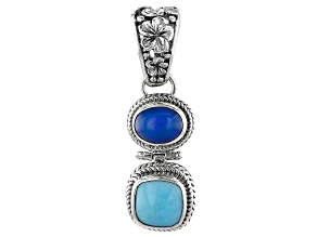 Paraiba Color Opal, Sleeping Beauty Turquoise Silver Pendant 1.49ct