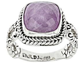Pink Kunzite Sterling Silver Ring