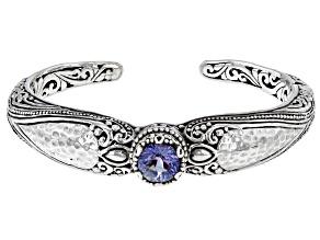 Blue Sea™ Quartz Silver Tree of Life Bracelet 2.38ct