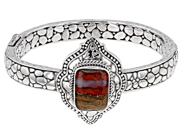 Picture of Red Seam Agate Sterling Silver Bracelet