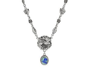 Bali Blue™ Barite Sterling Silver Butterfly Necklace