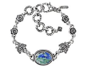 Bali Blue™ Barite Sterling Silver Butterfly Bracelet